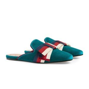 💙NWT Mules/Slippers Gucci Bow Velvet Sylvie Bow